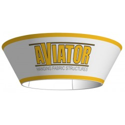 Aviator Hanging Fabric Sign - Tapered Circle 10'x36""