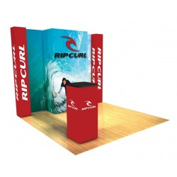 Panoramic Display 10'x10' Kit D with SEG Graphics