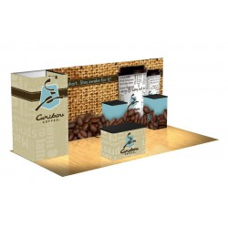 Panoramic Display 10'x20' Kit E with SEG Graphics