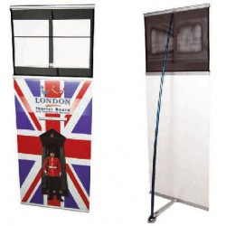 Concierge Banner Stand and Literature Rack